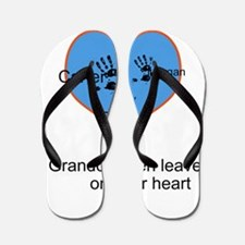 Personalized handprints Flip Flops