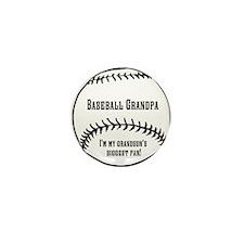 Baseball Grandpa Mini Button