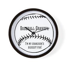 Baseball Grandpa Wall Clock