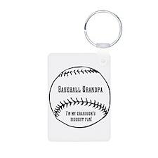 Baseball Grandpa Keychains