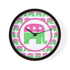 Preppy Republican Wall Clock