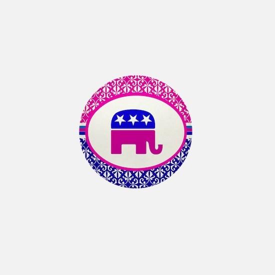 Damask Republican Clothing Mini Button