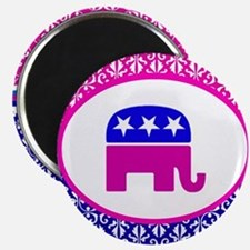 Damask Republican Clothing Magnet