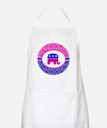 Damask Republican Clothing Apron