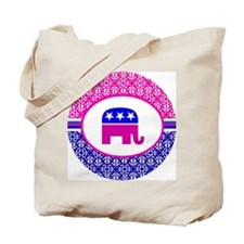 Damask Republican Clothing Tote Bag