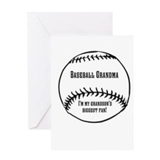 Baseball Grandma Greeting Card