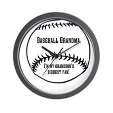 Baseball Grandma Wall Clock