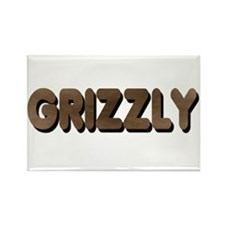 GRIZZLY-BROWN FELT LOOKING TE Rectangle Magnet