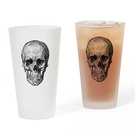Skull / Bones Drinking Glass