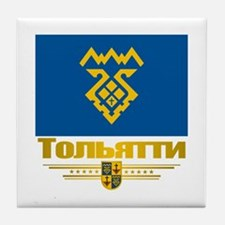 Tolyatti Flag Tile Coaster