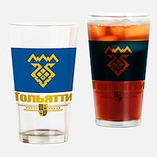 Tolyatti Flag Drinking Glass