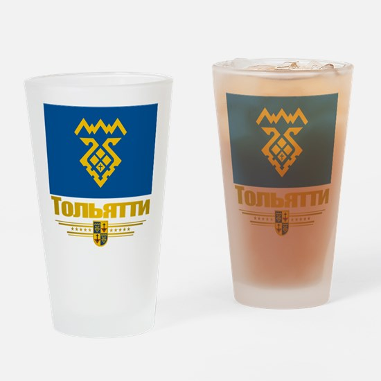 Tolyatti Flag Drinking Glass