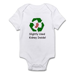 Slighty Used Kidney Inside Infant Bodysuit