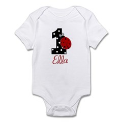 1st Birthday LadyBug - Ella - Custom Infant Bodysu