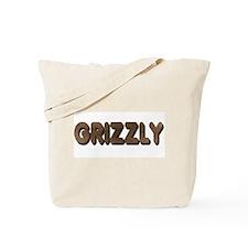 GRIZZLY-BROWN FELT LOOKING TE Tote Bag