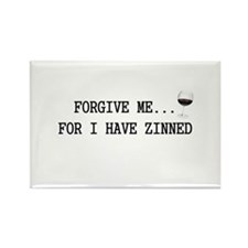 Forgive me... for I have zinned Rectangle Magnet