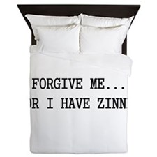 Forgive me... for I have zinned Queen Duvet