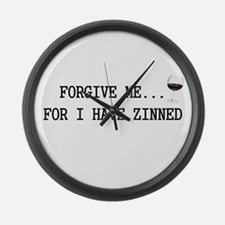 Forgive me... for I have zinned Large Wall Clock