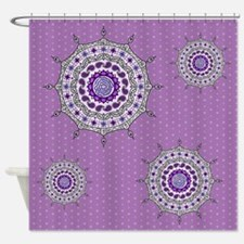 Mehndi Fantasy Silver Shower Curtain
