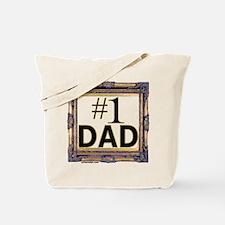 #1 dad, number 1 dad, number one dad Tote Bag