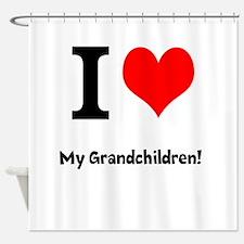 I love my grandchildren Shower Curtain