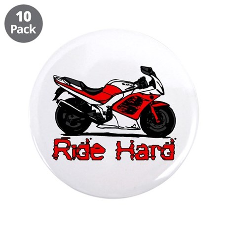 """Ride Hard 3.5"""" Button (10 pack)"""