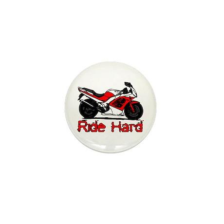 Ride Hard Mini Button