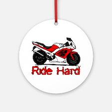 Ride Hard Ornament (Round)
