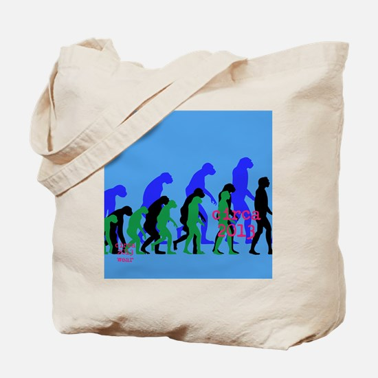 Blue and Green circa 2013 wear Tote Bag