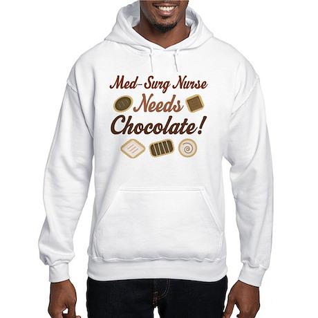 Med-Surg Nurse Gift Funny Hooded Sweatshirt