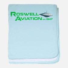Roswell Aviation baby blanket