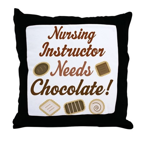 Nursing Instructor Gift Funny Throw Pillow
