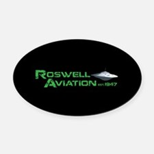 Roswell Aviation Oval Car Magnet