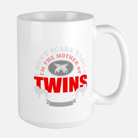 brave mother of twins.png Large Mug