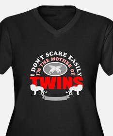 brave mother of twins.png Women's Plus Size V-Neck