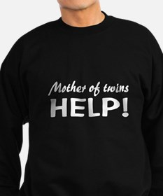 funny twins mom Sweatshirt (dark)