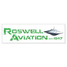Roswell Aviation Bumper Bumper Sticker