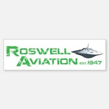 Roswell Aviation Bumper Bumper Sticker