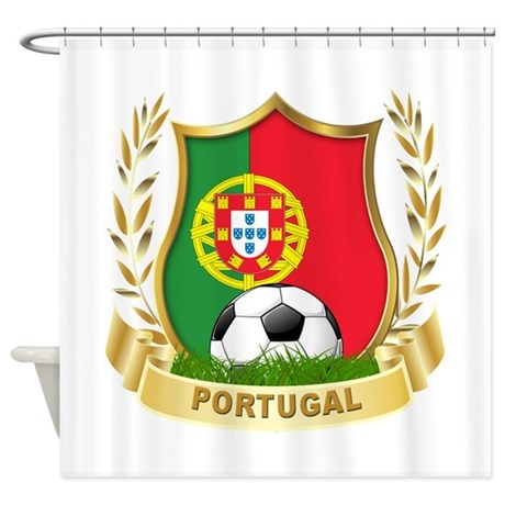Portugal World Cup Soccer Shower Curtain