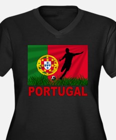 Portugal World Cup Soccer Women's Plus Size V-Neck