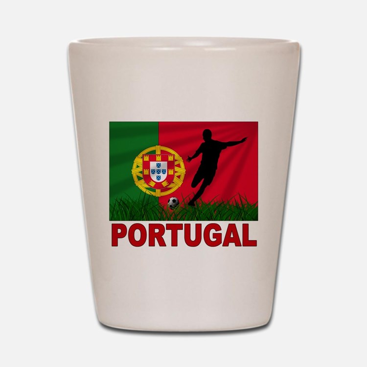 Portugal World Cup Soccer Shot Glass