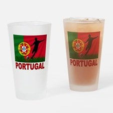 Portugal World Cup Soccer Drinking Glass
