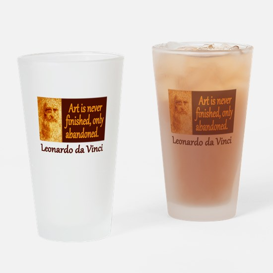 Da Vinci Quote Drinking Glass