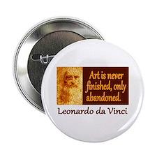"""Da Vinci Quote 2.25"""" Button (10 pack)"""