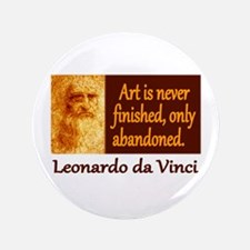 "Da Vinci Quote 3.5"" Button"
