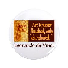 """Da Vinci Quote 3.5"""" Button (100 pack)"""