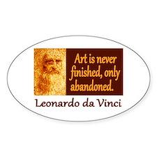 Da Vinci Quote Decal