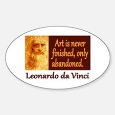 Da Vinci Quote Sticker (Oval)