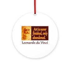 Da Vinci Quote Ornament (Round)