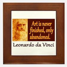 Da Vinci Quote Framed Tile